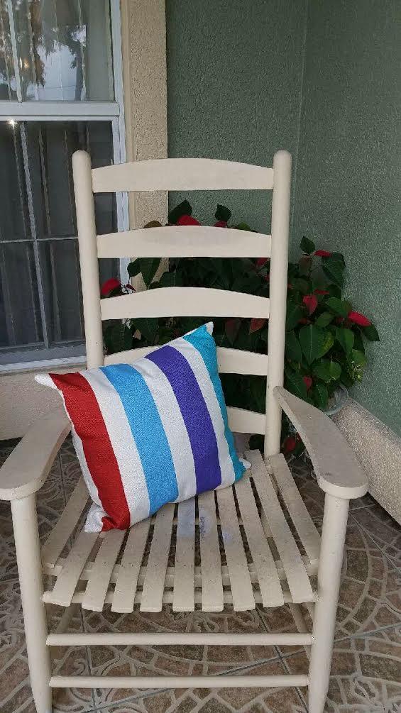 Color Stripe Decorative Throw Pillow