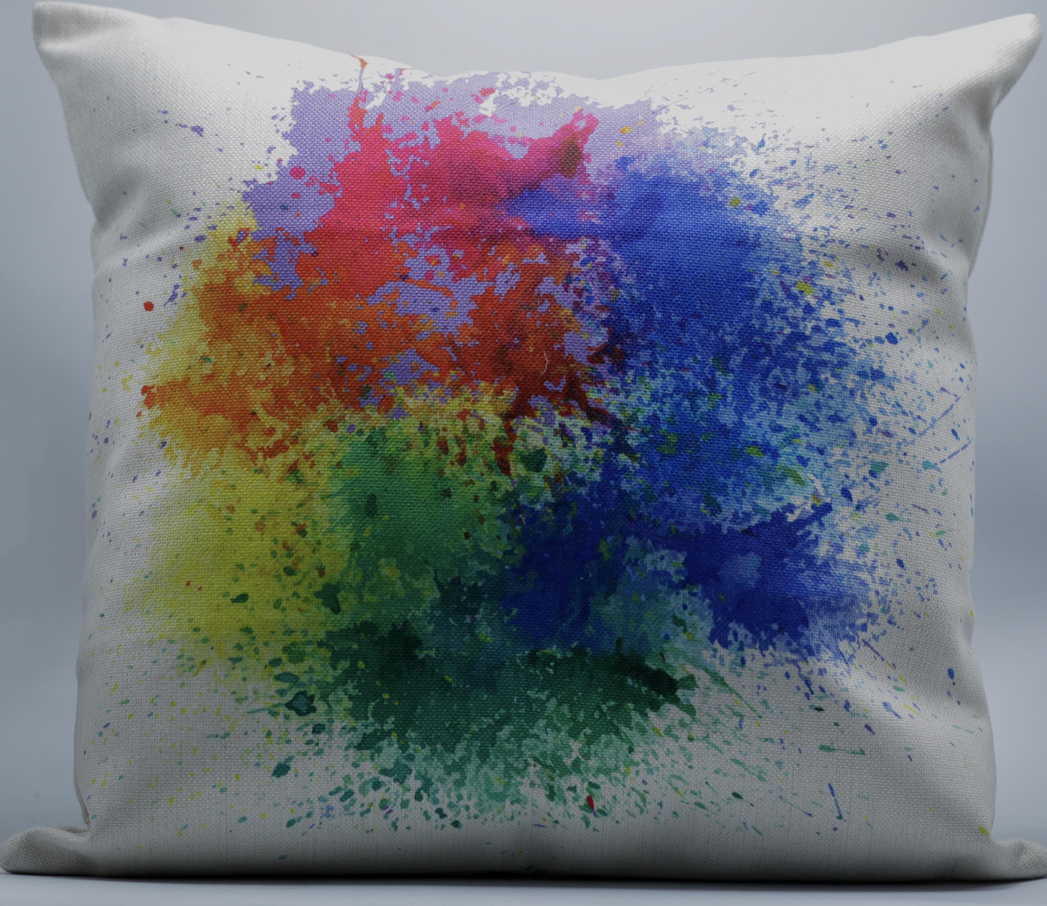 Color Splash Decorative Throw Pillow Cover